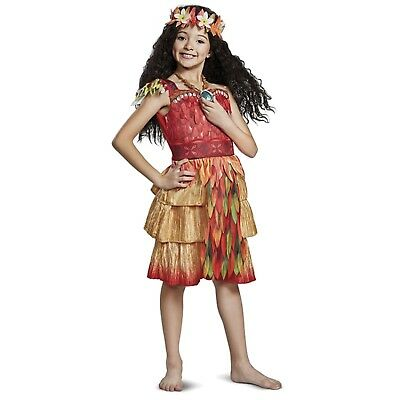 Girls Disney Moana Deluxe Epilogue Warrior Costume Toddler XS 3T 4T S 4-6 M 7-8 - Disney Costumes Girls