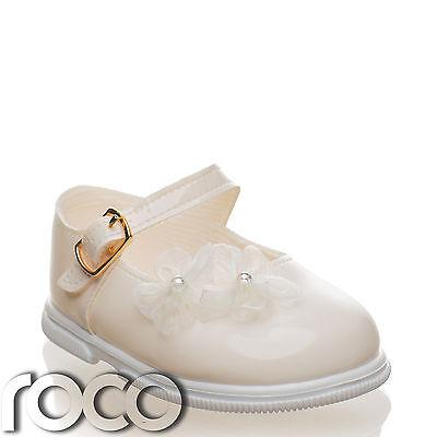 Mädchen Elfenbein Schuhe Brautjungfer Blumenmädchen Kleinkind ()