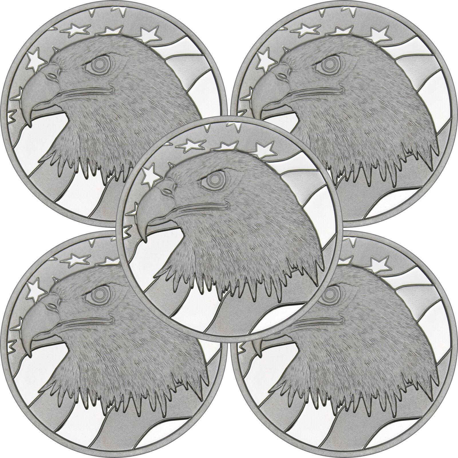 Купить Pledge of Allegiance Silver Eagle 1 oz .999 Silver Round LOT of 5