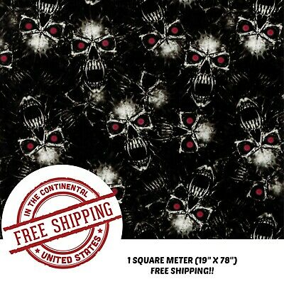 Hydrographic Water Transfer Hydrodipping Film Hydro Dip Red Eye Vampire 1sq