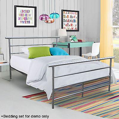 Metal Platform Bed Frame Full Size Bedroom Furniture Foundation Steel Headboard