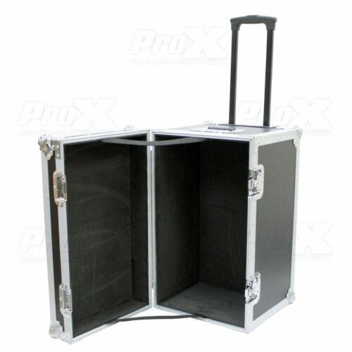 Prox Utility Multipurpose Small DJ Trunk Road Case w/ Foam Lined Wheels & Handle