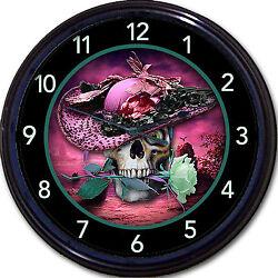 Steampunk Skull Skeleton Gothic Goth Wall Clock lady Vintage Victorian New 10