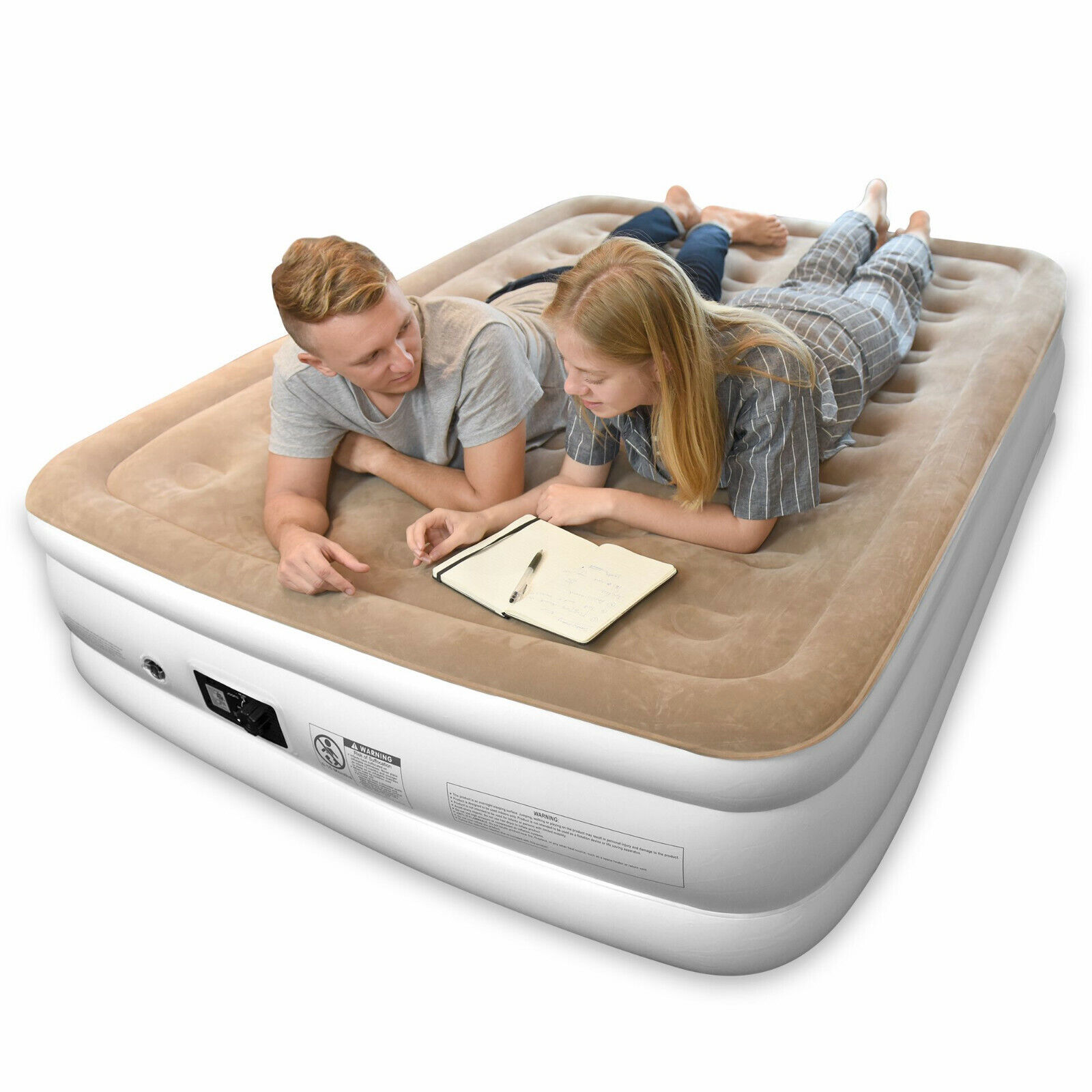 JOOFO TWIN Reliable Air Mattress with Built-in Quick Pump, Storage Bag, 18 in Beds & Mattresses