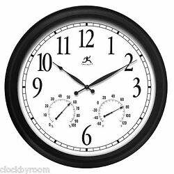 Infinity Instruments 13376BK-2534 Oversized 24 Large Home Wall Clock