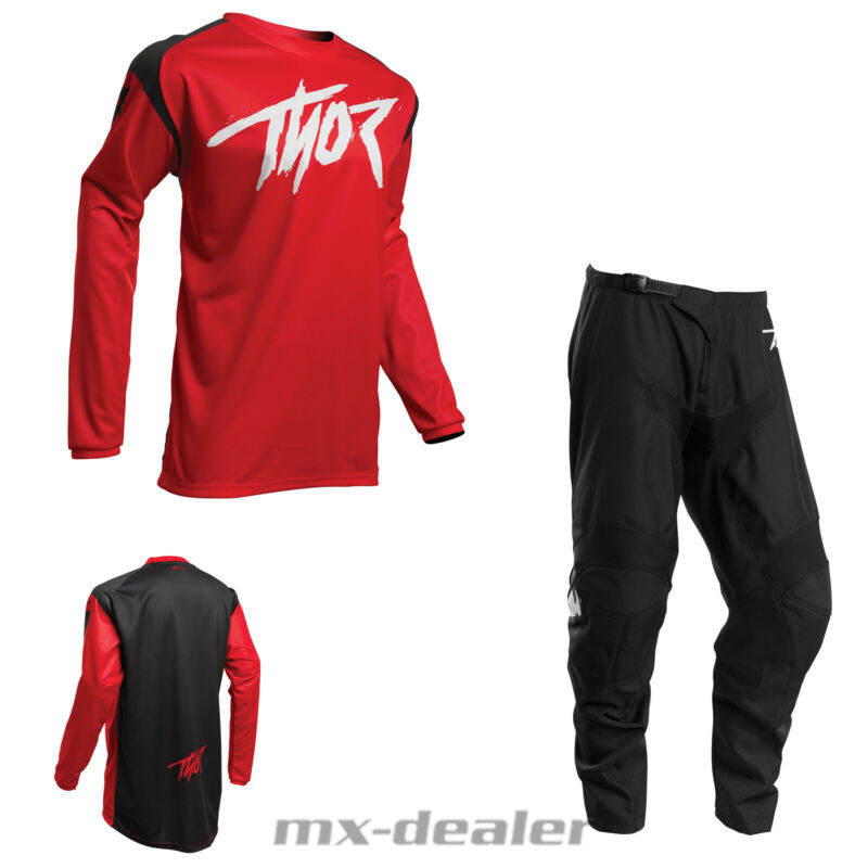 Details zu 2020 Thor Sector Link Rot Cross Jersey Hose Combo motocross Enduro Quad MX BMX