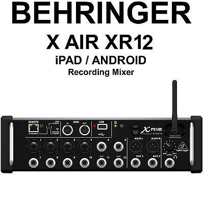BEHRINGER X AIR XR12 iPad/Android Tri-Procedure Wi-Fi FX Recording Studio Live Mixer