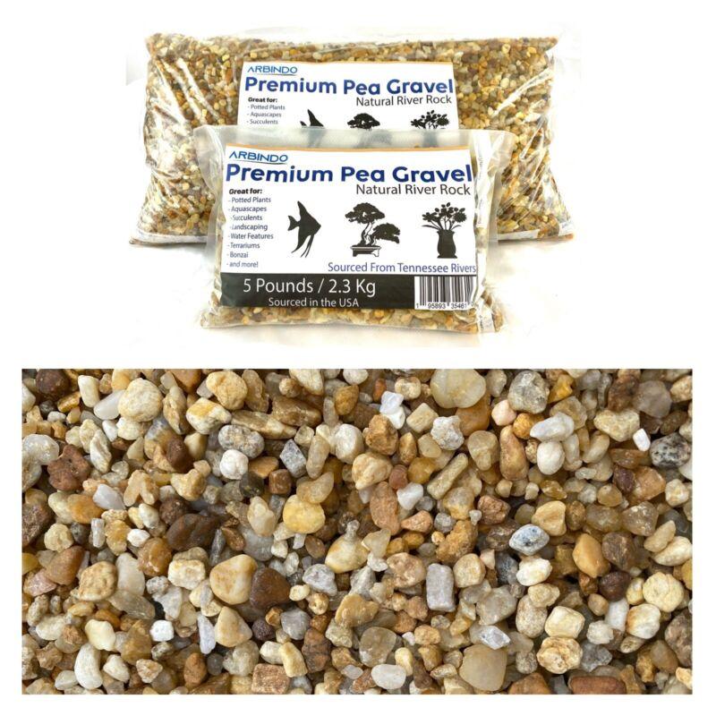 Natural Pea Gravel River Rocks 10lb Bag for Potted Plants, Cactus, Succulents