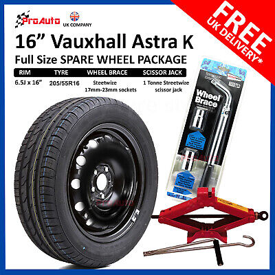 """VAUXHALL ASTRA K  2015 - 2019  Full Size SPARE WHEEL 16"""" TYRE + TOOLS 5 X105"""