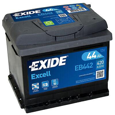 Autobatterie 12V 44Ah 420A Exide Starterbatterie WARTUNGSFREI TOP ANGEBOT EB442