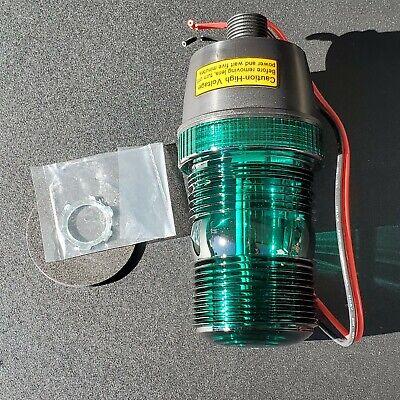 Grainger Warning Light Green Strobe Tube 12 - 80v Dc Flashesminute 72 6 38