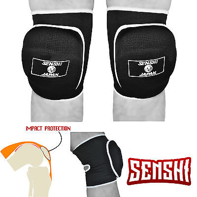 Senshi Japan Volley Ball Knee Pads Straps MMA Wrestling Padded Martial Arts Gym