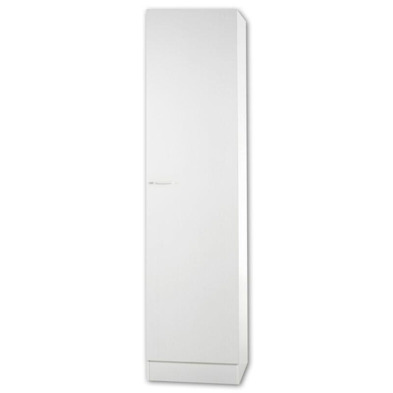Hochschrank Küchenschrank weiß 50cm 1 Tür Küchenmöbel Küche Mehrzweckschrank