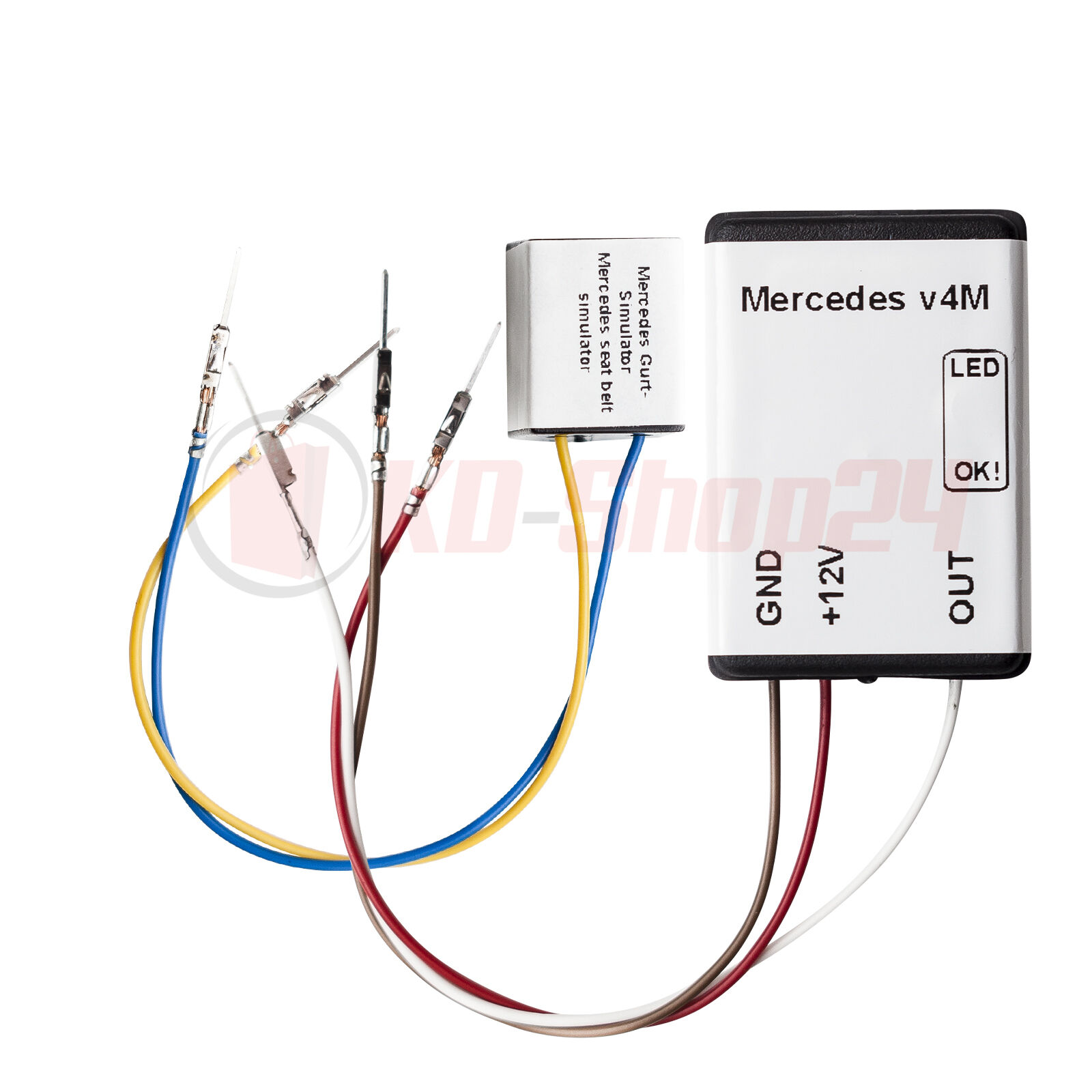 emulator for mercedes benz passenger seat occupancy mat sensor srs rh ebay com Compressor Relay Wiring Diagram Compressor Relay Wiring Diagram