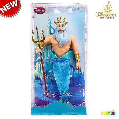 Disney Store Classic King Triton 12  Doll The Little Mermaid New  Shelf Wear