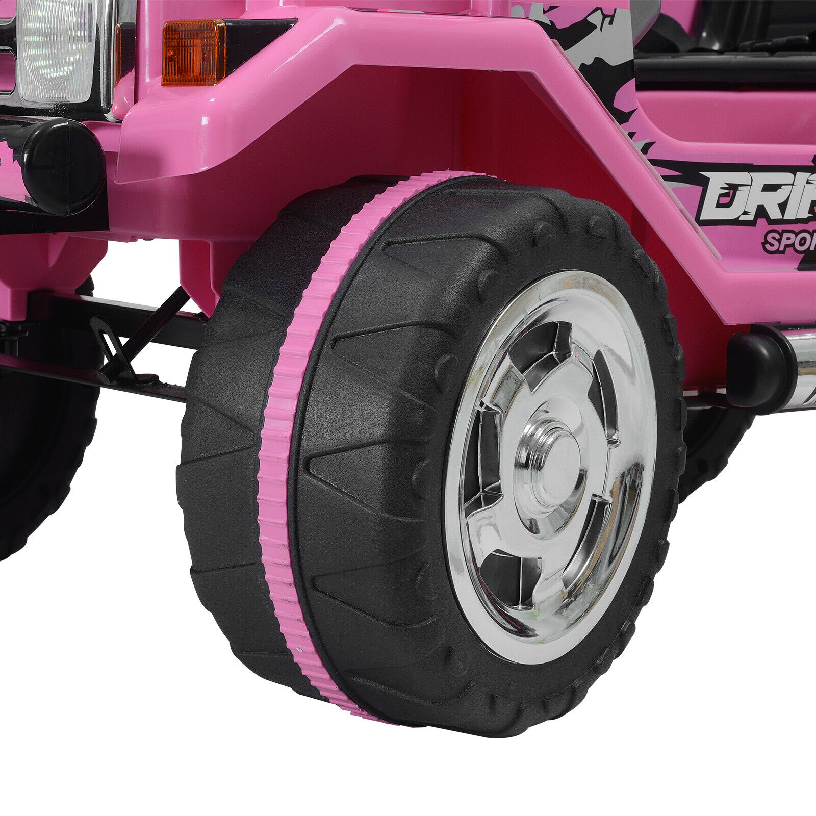 12V Kids Ride On Truck Car w/ Remote Control LED Lights 3 Speeds w/ Music Pink