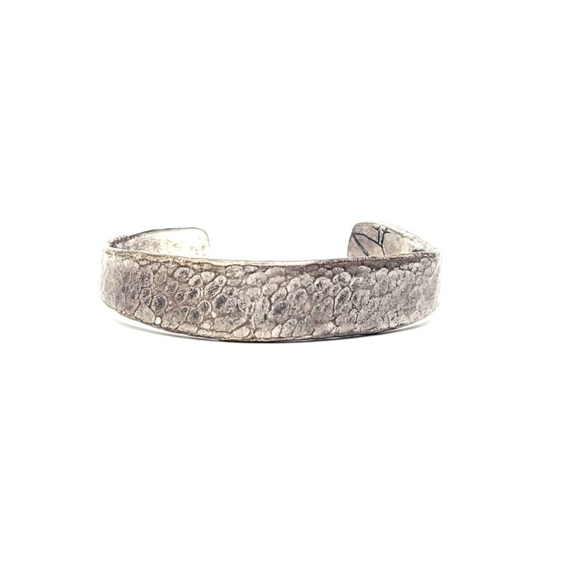 Jes MaHarry Hammered Sterling Silver Cuff Bracelet for 32 Bar Blues #8746