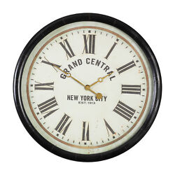 Grand Central Station Wall Clock | Retro New York City Round Vintage Style