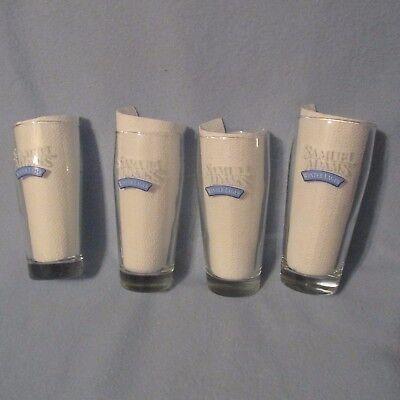 Samuel Adams Boston Winter Lager Beer Set of 4 Pint Glasses Collectible