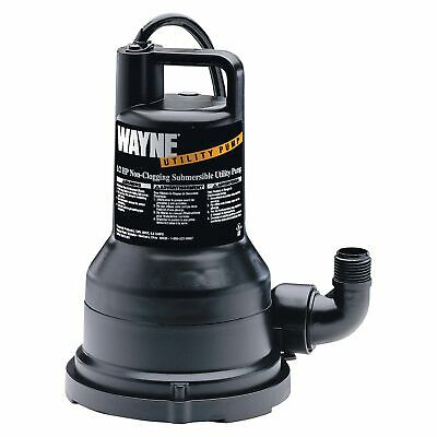 Wayne Thermoplastic Submersible Utility Pump-2500 Gph 12 Hp 1 14in Vip50