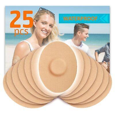 Fixic - Adhesive Patches 25 PCS - Enlite - Freestyle Libre - Dexcom G5/G6 - Tan