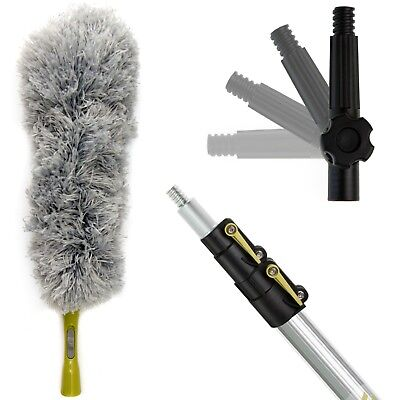 High Reach Duster (DocaPole 5-12 Foot Extension Pole + Microfiber Feather Duster High Reach)