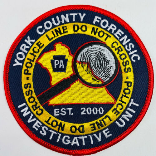 York County Forensic Investigative Unit Pennsylvania PA Police Patch (A4)