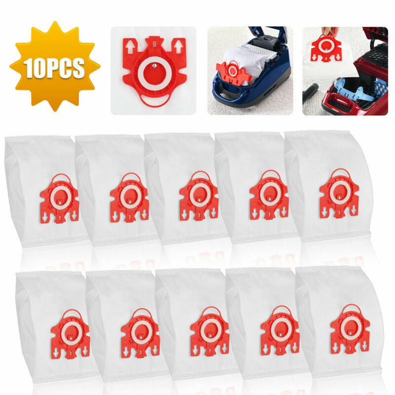 10Pcs Dust Filters Bags Efficiency For Miele FJM Synthetic Type Vacuum Cleaner
