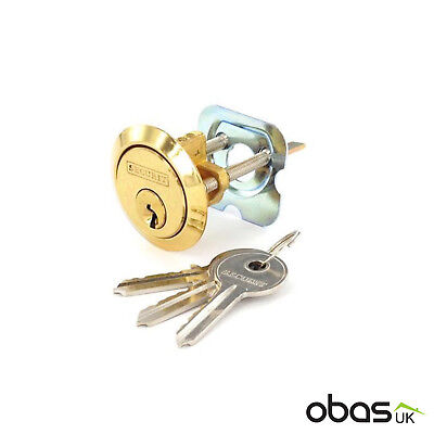 Securit  B1750 Front Door Replacement Brass Cylinder Lock Night Latch 60mm Yale for sale  Shipping to Ireland