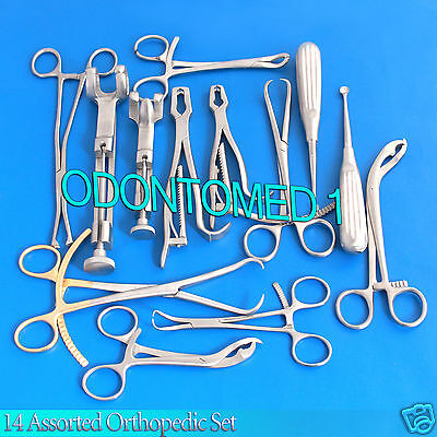 14 Assorted Orthopedic Surgical Instruments Custom Made Setsr-531