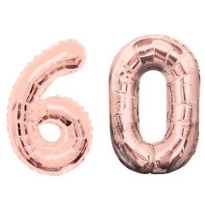 Number 60 Rose Gold 34