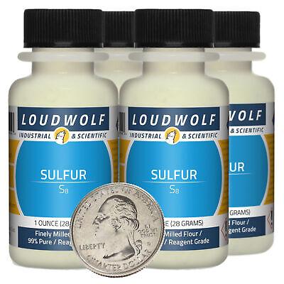 Sulfur 4 Ounces 4 Bottles 99 Pure Reagent Grade Finely Milled Flour