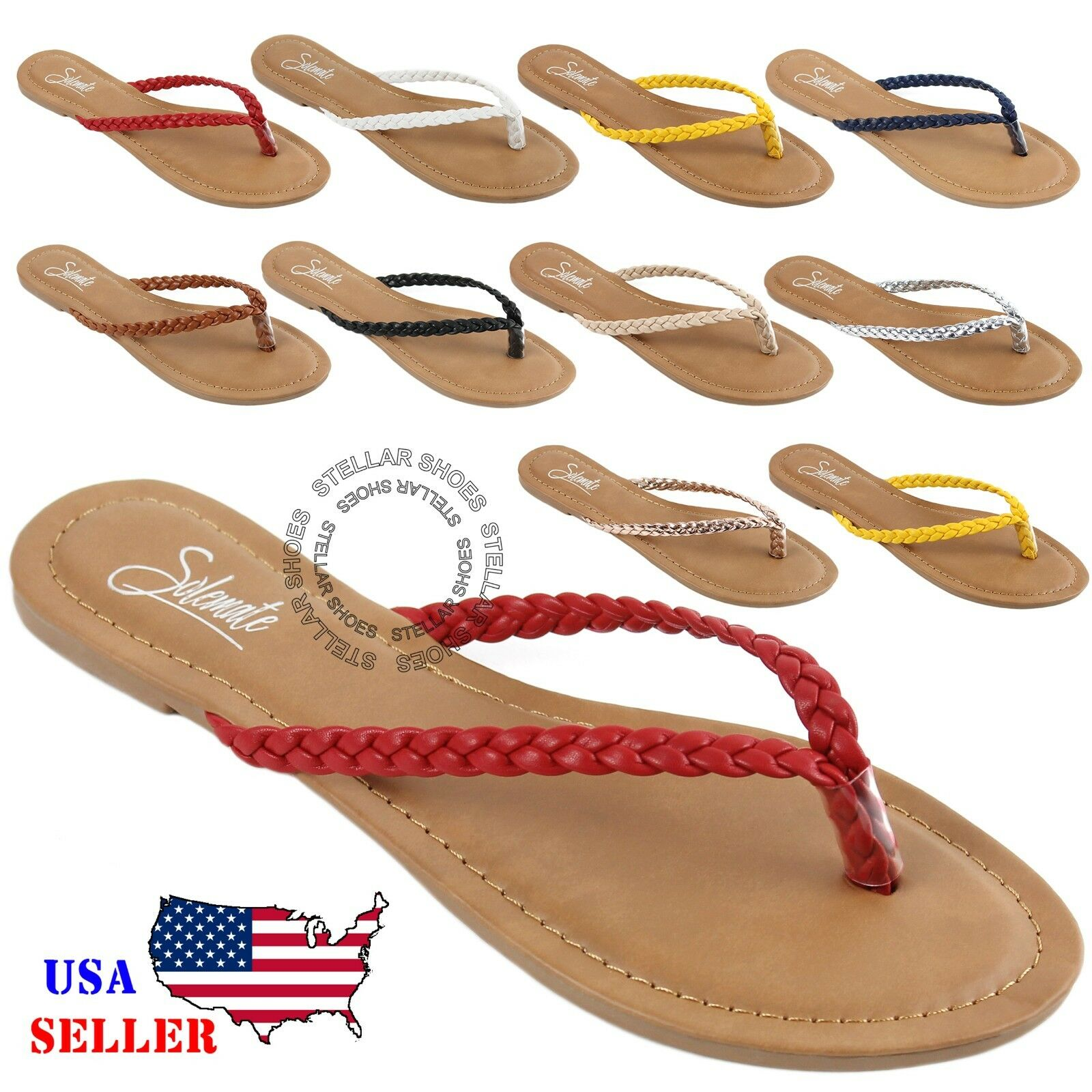 NEW Womens Summer Comfort Casual Thong Flat Flip Flops Sandals Slipper Shoes