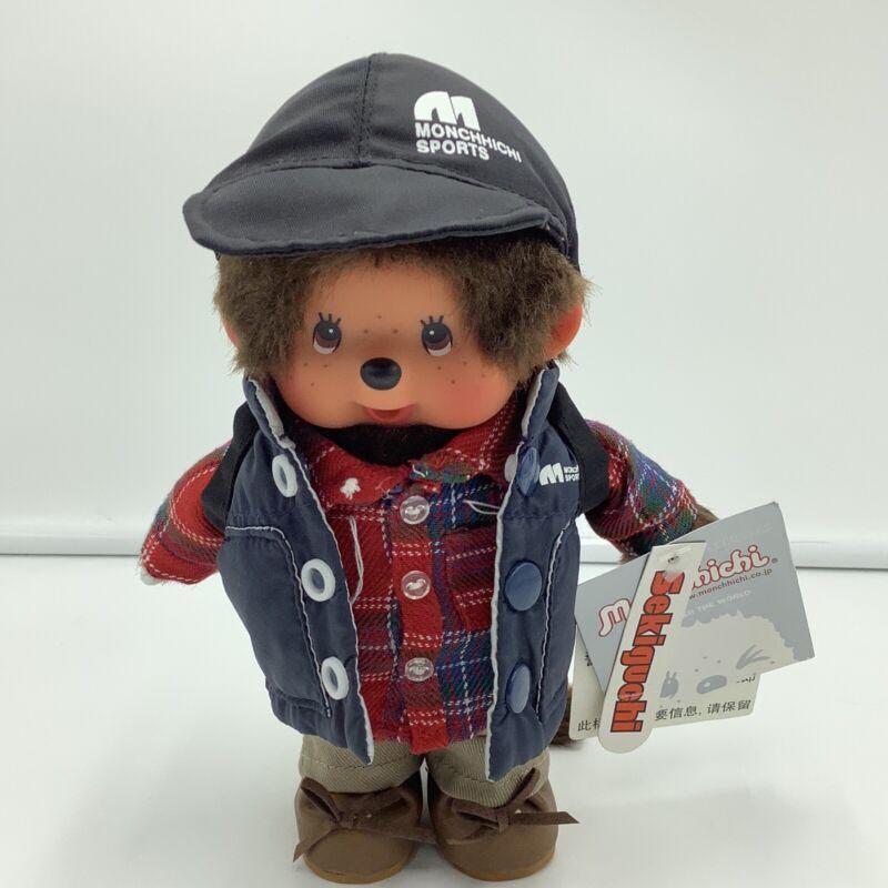 "Moncchichi Sekiguchi Tokyo Fashion Outdoor Boy Tags 8"" Stuffed Monkey"