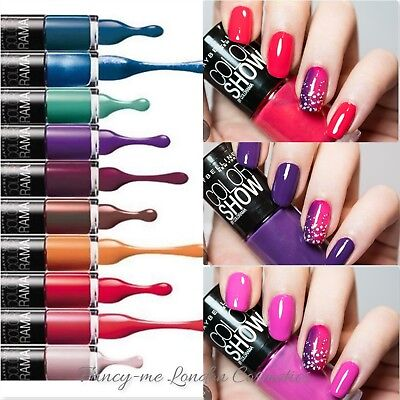 Maybelline New York Color Show Nail Polish / Nail Varnish NEW 2018 SHADES