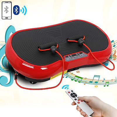 Crazy Fit Massage Full Body Vibration Platform Machine Fitness W/Bluetooth Red