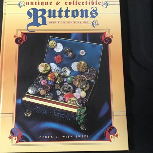 VINTAGE BUTTON BOOK BY  DEBRA  WISNIEWSKI, ANTIQUE & COLLECTIBLE BUTTONS