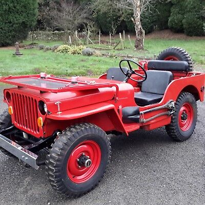 Willys jeep 1942 Ford GPW WW2 jeep classic car military vehicle barn find