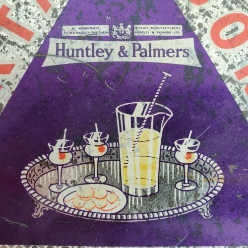 Vintage Huntley & Palmers Art Deco Cocktail Biscuit Tin Made in England