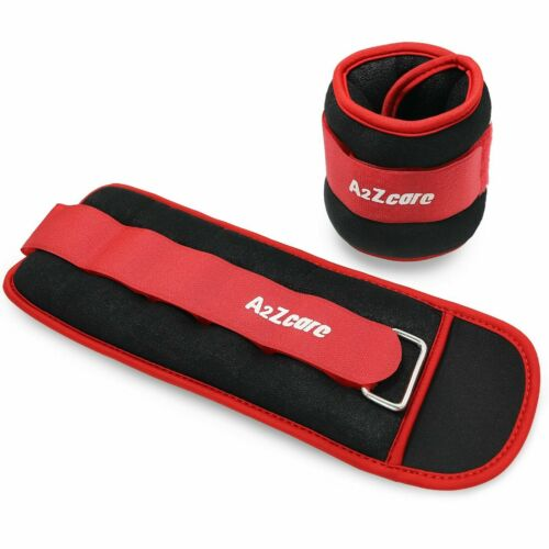 A2ZCare Ankle Weights/Wrist Weights - (3 lbs each)- Strength Exercise Training
