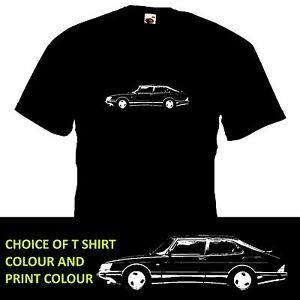 SAAB 900 TURBO T SHIRT retro car inspired tee motoring classic gift design