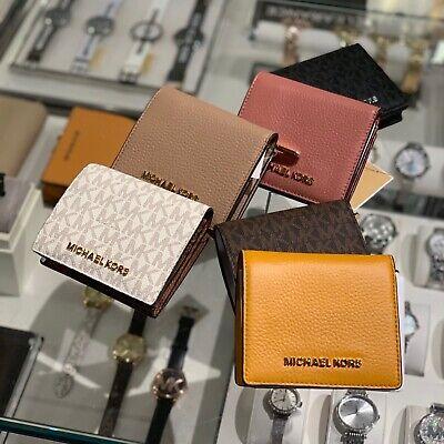 Michael Kors Women Small PVC Leather Bifold wallet purse card holder Clutch Lady