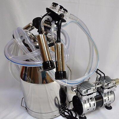 Portable Cow Bucket Milkeroil-less Vacuum Pumptankpulsatorclawshellsliners