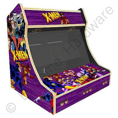 "BitCade 2 Player 24"" Bartop Arcade Machine Cabinet with X-Men Artwork"