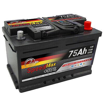 Autobatterie 75Ah 12V +50% Power 680A ersetzt 70Ah 72Ah 74Ah 75Ah 77Ah Speed Max