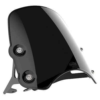 Victory Round Headlight - Dart Piranha Flyscreen in Midnight Black