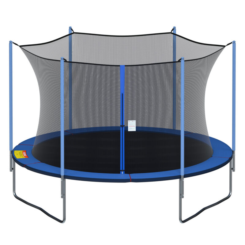 Round Replacement Trampoline Safety Enclosure Net for 12, 13, 14, 15 ft Frames
