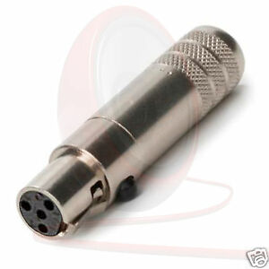 SWITCHCRAFT-Tini-Q-G-4-pin-ta4fsh-Mini-Xlr-Conector-acero-CARCASA