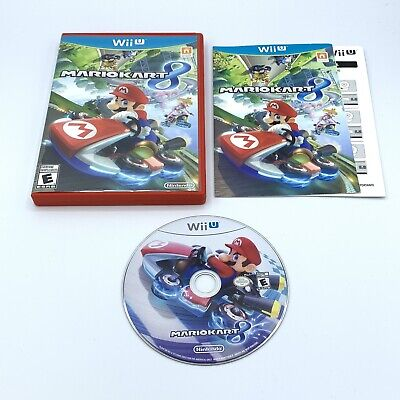 Mario Kart 8 (Nintendo Wii U 2014) Complete with Manual & Insert - Free Shipping