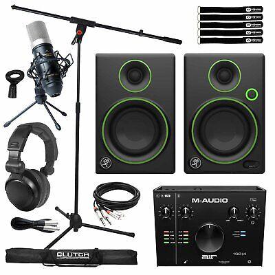 Home Recording Bundle AIR192X4 Audio USB Interface w CR3 Studio Monitor Speakers